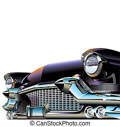 autó, öreg, klasszikus