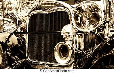 autó, öreg