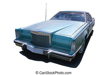 autó, amerikai, ősi