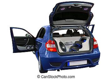autó, audio, fényűzés, rendszer
