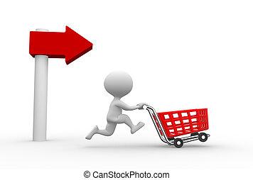 autó, bevásárlás