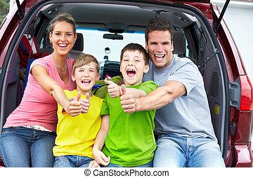 autó, család