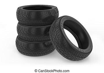 autó, csoport, tél, tires.