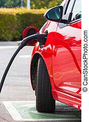 autó, elektromos, megterhelés