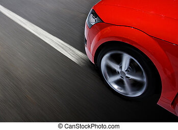 autó, elhomályosít, mozgató, gyorsan, sport