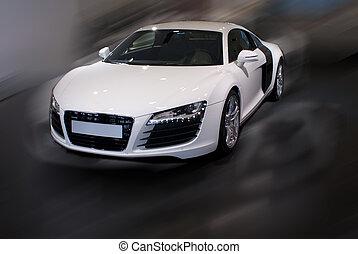 autó, elképzel, sport