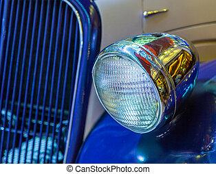 autó, első lámpa, szüret