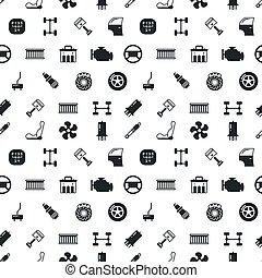 autó elválás, seamless, vektor, kímél, motívum