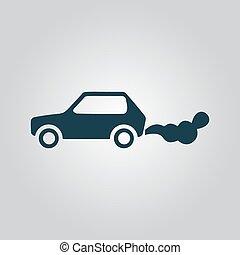 autó, emits, szén-dioxid