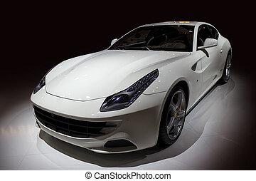 autó, fényűzés, sport, fehér