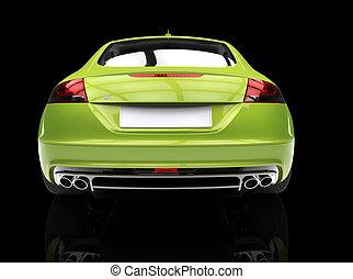 autó, fényes, zöld fogad, kilátás