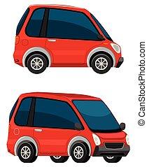 autó, fehér, elektromos, háttér