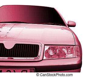 autó, fehér, elszigetelt