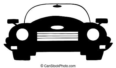 autó, fehér, fekete, átváltható