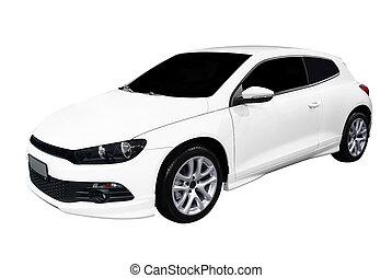 autó, fehér, gyorsan