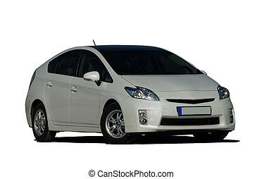 autó, fehér, keverék