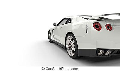 autó, fehér, sport