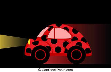autó, fekete, karikatúra, háttér