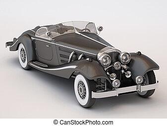 autó, fekete, klasszikus