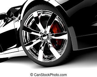 autó, fekete