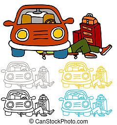 autó, fenntartás, rendbehozás