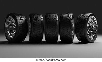 autó, fogalom, tervezés, wheels.
