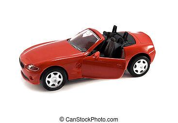 autó, formál, piros