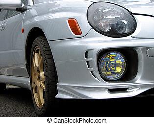 autó, front-light