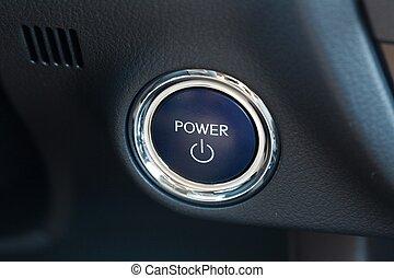 autó, gombol, erő