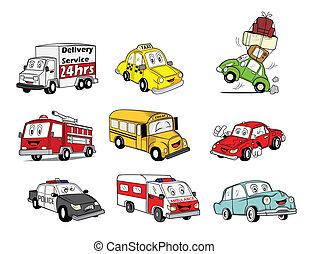 autó, gyűjtés