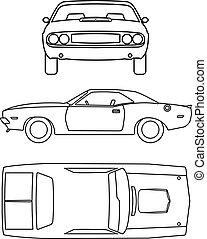autó, gyűjtés, klasszikus