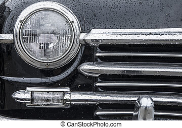 autó, háttér, klasszikus