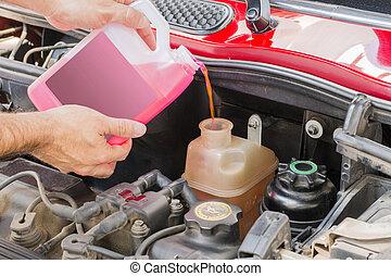 autó, hűtőfolyadék