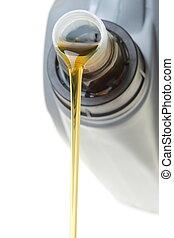 autó hajtómű, konzerv, olaj, elszigetelt, fehér