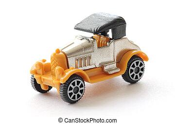 autó, kevés, játékszer