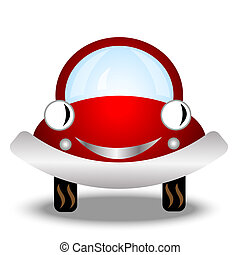 autó, kevés, white háttér, piros