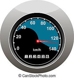 autó, kiállítás, valaki, sebességmérő, gyorshajtás
