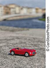 autó, kilátás, klasszikus