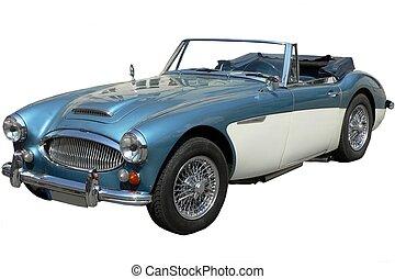 autó, klasszikus, brit, sport