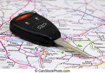 autó kulcs, 2