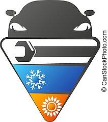 autó, légkondicionálás, rendbehozás