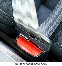 autó leültet, biztonság, rögzít, felövez