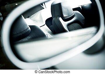 autó leültet, tükör
