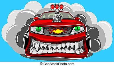 autó, mérges