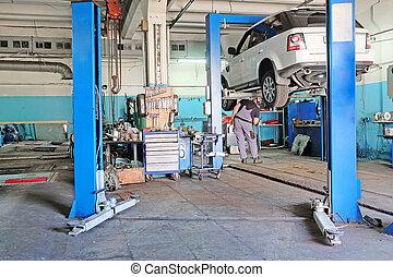 autó megjavítás, állomás