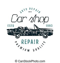 autó megjavítás, embléma