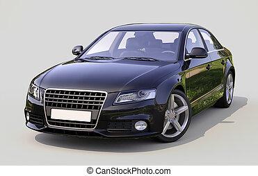 autó, modern, fényűzés