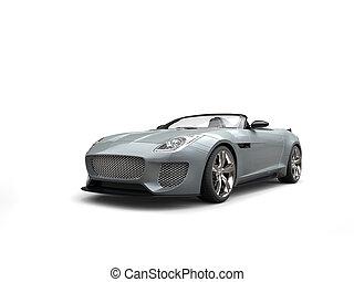 autó, modern, sport, átváltható, ezüst, friss