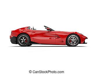 autó, modern, -, sport, fényes, átváltható, szuper, lejtő, piros, kilátás
