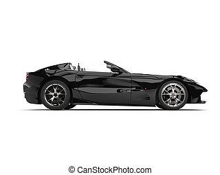 autó, modern, -, sport, fekete, bukdácsolás, átváltható, szuper, szegély kilátás